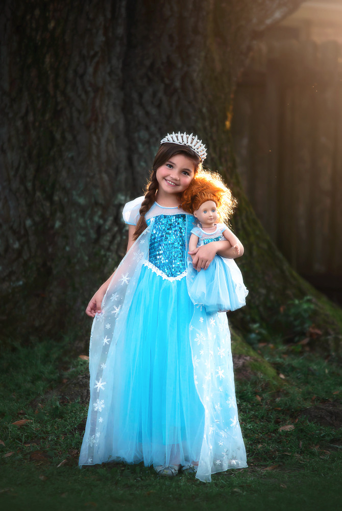 """""""""""ICE QUEEN DOLL GOWN"""""""""""