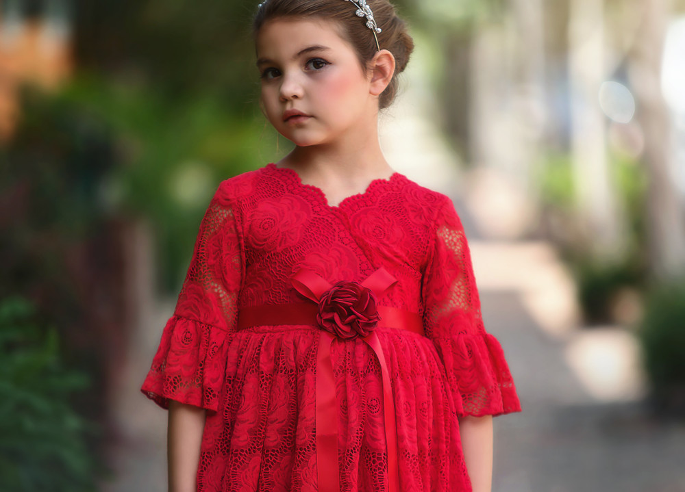 """GISELA DRESS CRIMSON"""