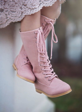 """St. Andrews Wingtip Boot- Pink"""