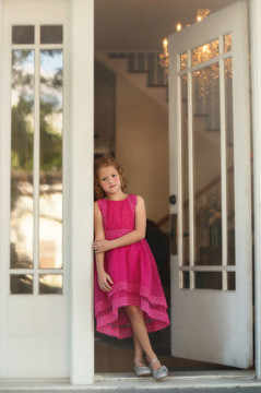 DELPHINE DRESS FUCHSIA