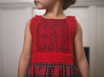 DELPHINE DRESS TARTAN