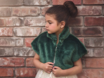 ASTRID FAUX FUR JACKET- EMERALD