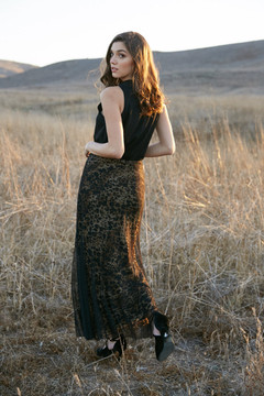 ANGELINA  ANIMAL PRINT MAXI SKIRT