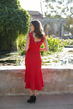 ANASTACIA DRESS-CRIMSON