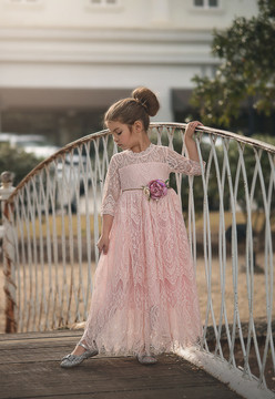 BELLA RAFAELA GOWN & BELT SET PINK