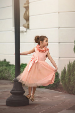 AERALINA DRESS PEACH