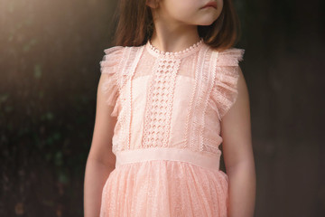 CLARISSA DRESS PALE PEACHY PINK