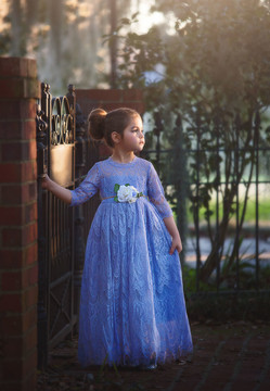 BELLA RAFAELA GOWN & BELT SET LAVENDER
