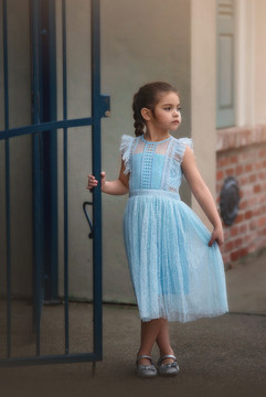 CLARISSA DRESS BLUE