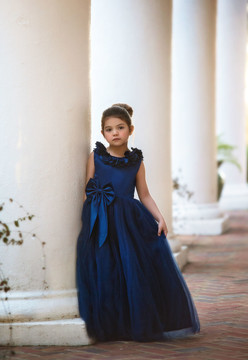 AERALINA GOWN NAVY