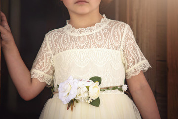 GRACIE GOWN AND BELT SET IVORY