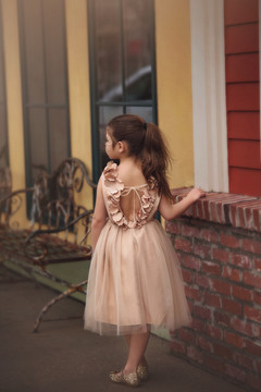 AERALINA DRESS GOLD