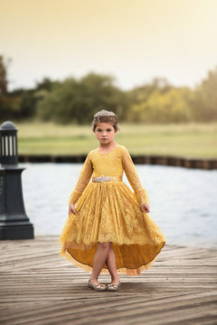 AINSLEY DRESS & BELT SET TURMERIC