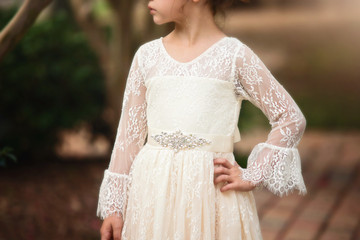 AINSLEY DRESS & BELT SET IVORY