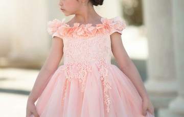 BELLE GOWN PEACHY PINK