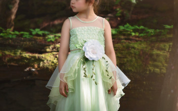 """FROG PRINCESS GOWN & BELT SET"""