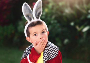 WHITE RABBIT 4PC. COSTUME