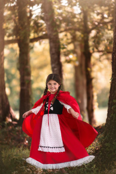 LUXE RED RIDING HOOD DRESS & CAPE SET