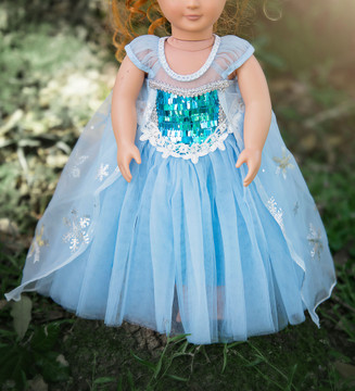 ICE QUEEN DOLL GOWN
