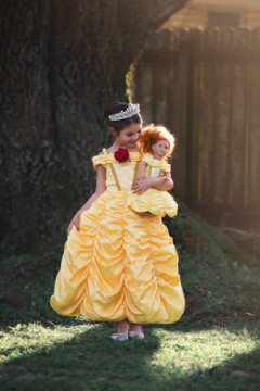 """PRINCESS CHARLOTTE DOLL GOWN"""