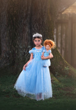 """QUEEN OF THE KINGDOM DOLL DRESS"""
