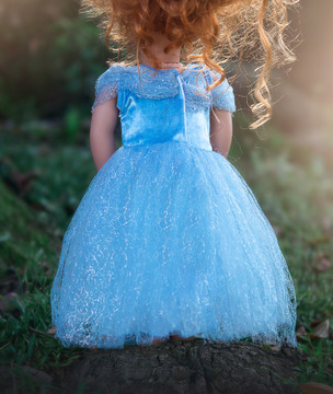 QUEEN OF THE KINGDOM DOLL DRESS