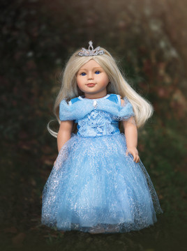 """""""QUEEN OF THE KINGDOM DOLL DRESS"""""""