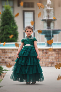 ARIANA GOWN & BELT SET EMERALD