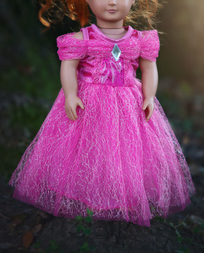 DOLL DRESS PINK PRINCESS
