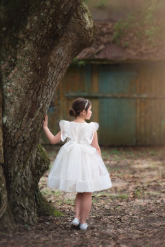 BUTTERFLY ALICE DRESS WHITE