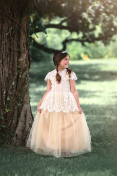 GWENDOLYN GOWN-WHITE/NATURAL