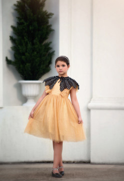 MILLY DRESS SPARKLING CHAMPAGNE