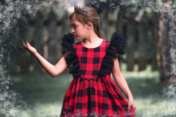 MILLY DRESS RED BUFFALO CHECK