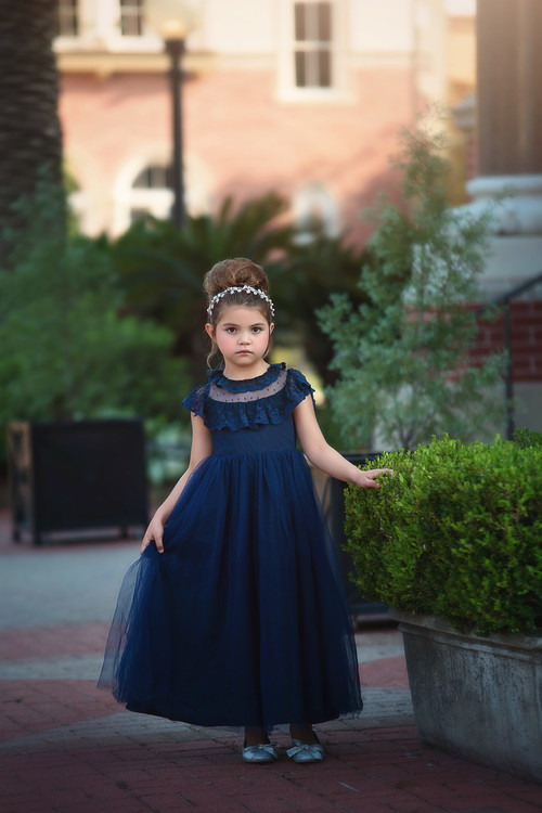 GIOVANNA GOWN NAVY