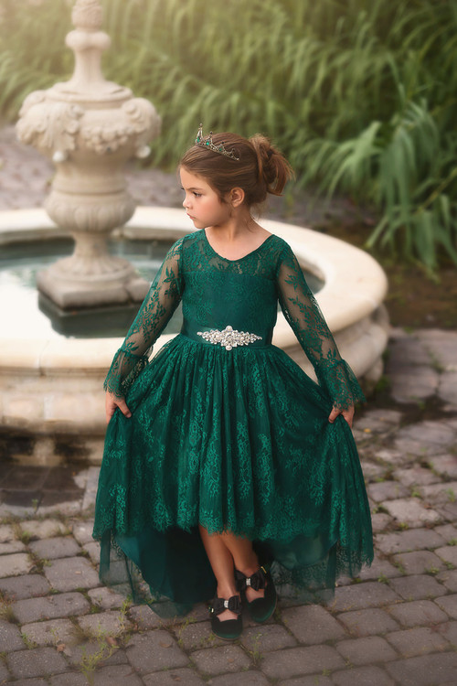 AINSLEY DRESS & BELT SET EMERALD