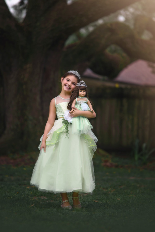FROG PRINCESS DOLL GOWN