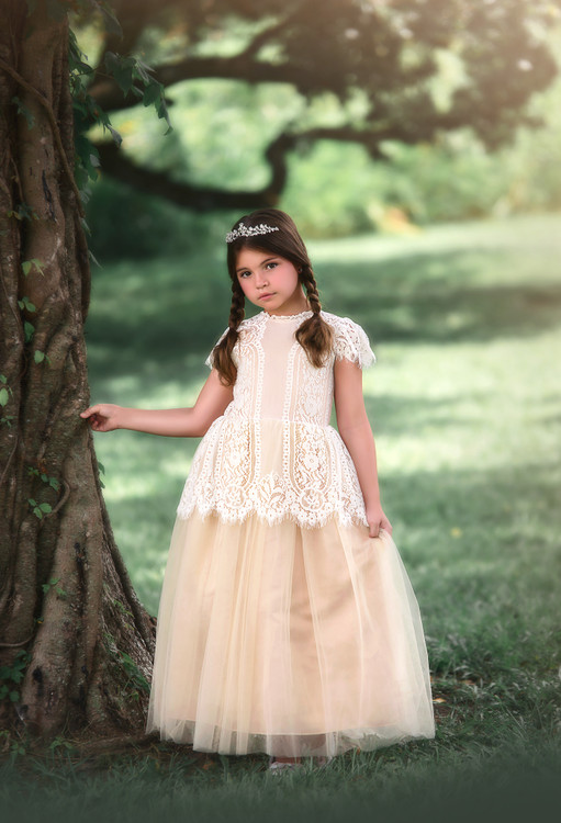 """""""""""GWENDOLYN GOWN-WHITE/NATURAL"""""""""""