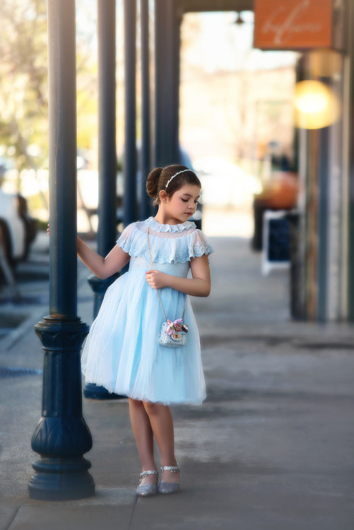 GIOVANNA DRESS EASTER EGG BLUE