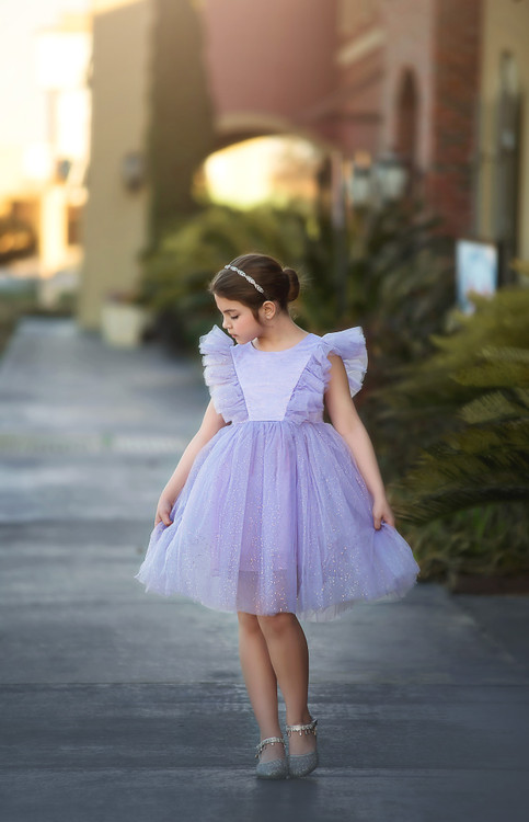 MILLY DRESS SPARKLE LAVENDER