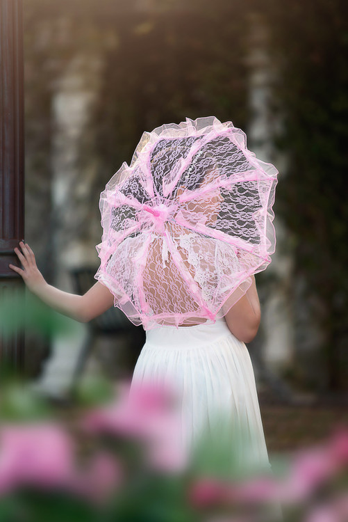 PIPER LACE PARASOL PINK