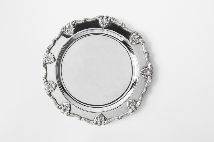 **SILVER PLATED ST. JAMES CHARGER PLATE**