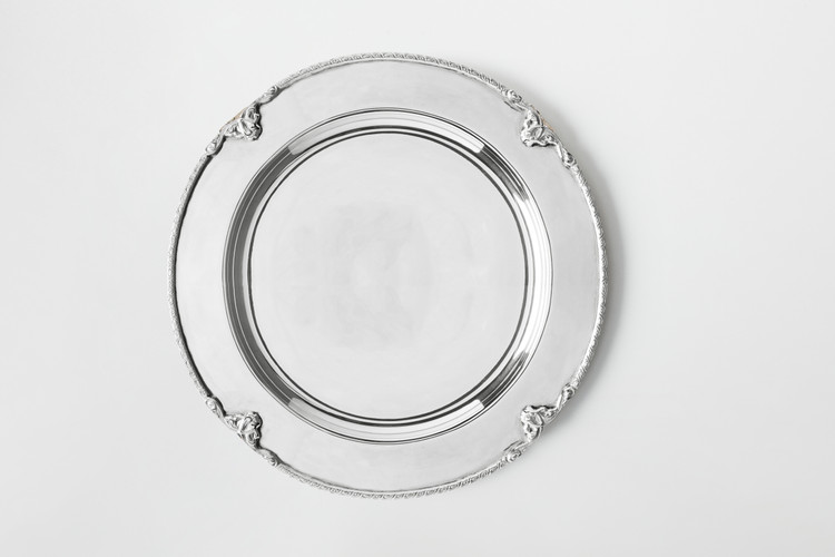 SILVER PLATED YORKSHIRE CHARGER PLATE