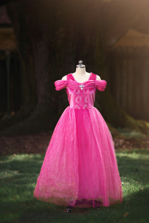 PINK PRINCESS GOWN FOR WOMEN