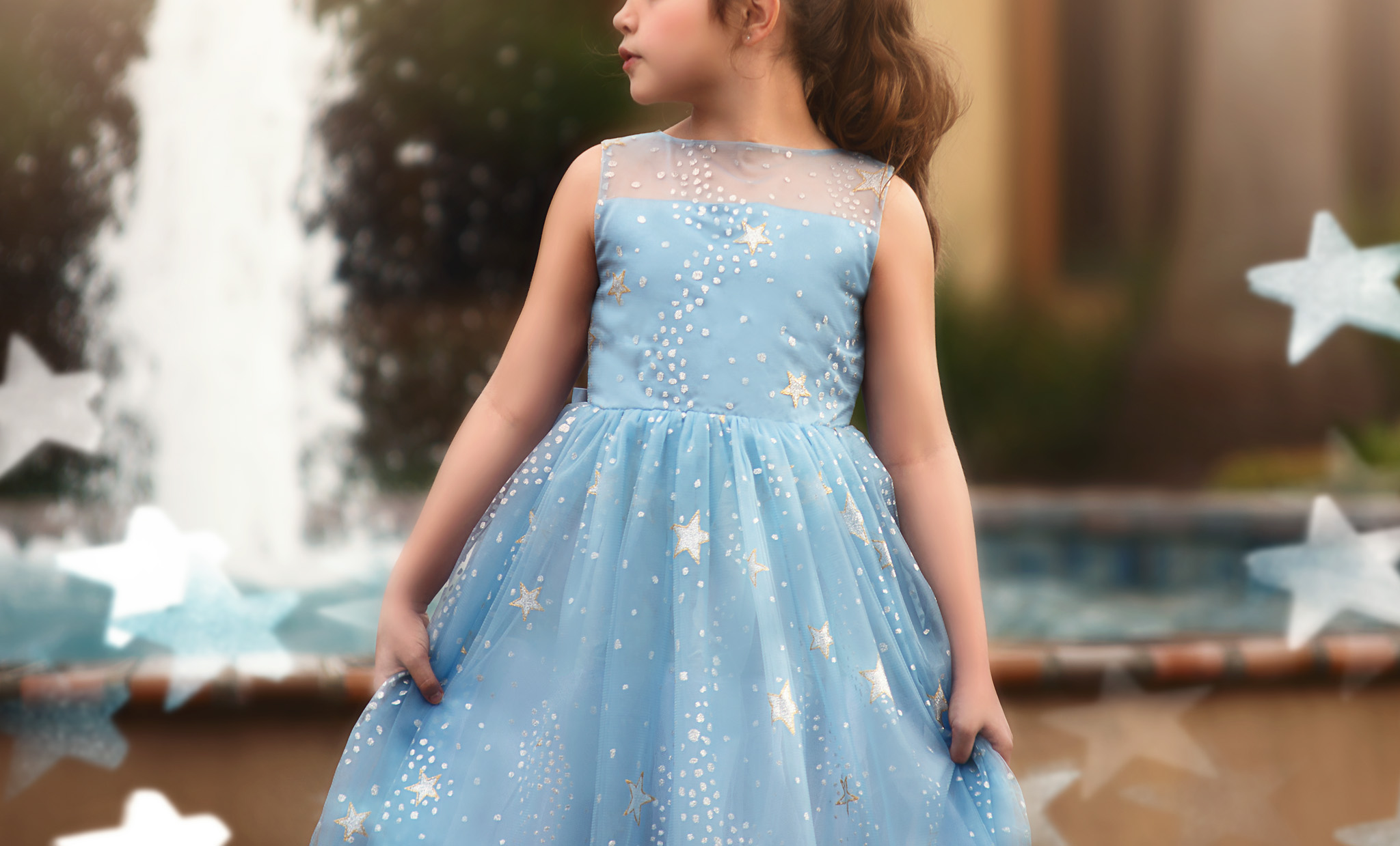 ANTOINETTE GOWN LIGHT BLUE