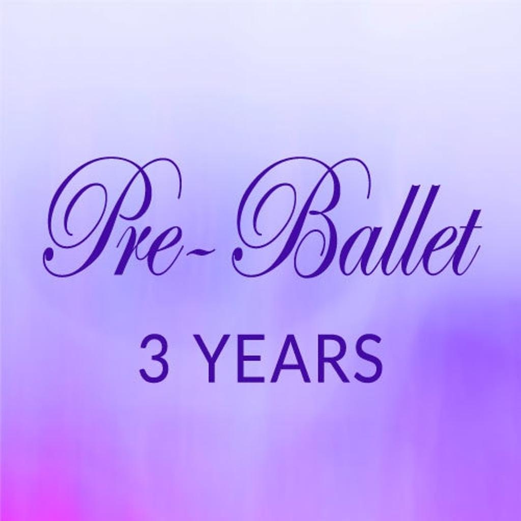 Sat. 9:00-9:45, Pre-Ballet, 3 yrs. - Fall