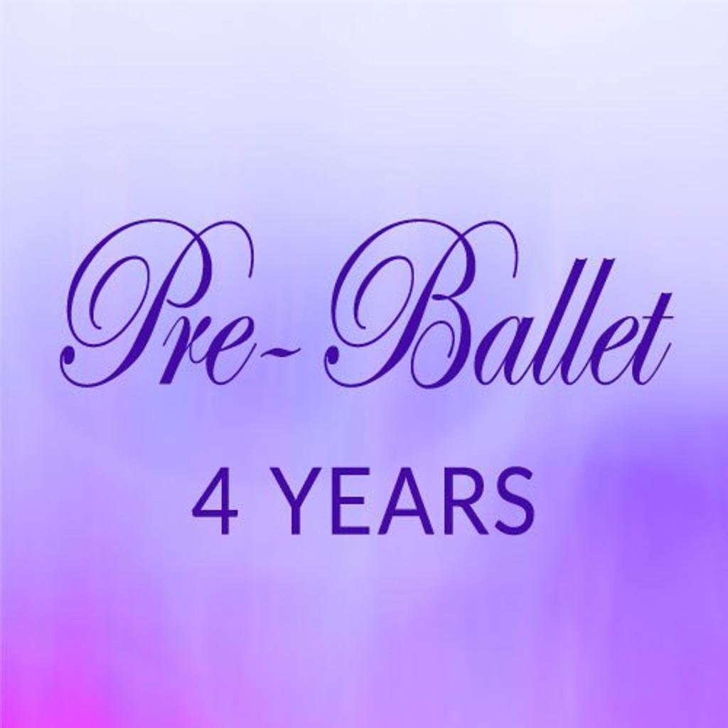 Fri. 1:30-2:15,  Pre-Ballet, 4 yrs. - First Session (Sept. 8, '20 - Jan. 23, '21)