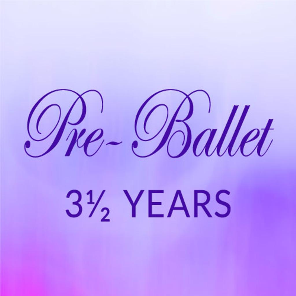 Mon. 2:45-3:30, Pre-Ballet, 3-1/2 yrs. - Spring