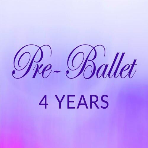 Wed. 11:45- 12:30, Pre-Ballet, 4 yrs. - Spring