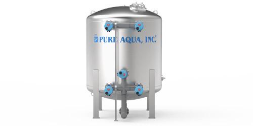 Filtro Industrial Multimedios Tanque de Agua Acero Inoxidable-Imagen1