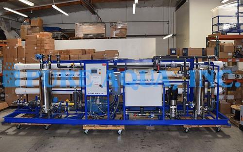 Sistema de ÓI Para Agua Salobre Industrial Para el Procesamiento de Alimentos 144,000 GPD - Perú